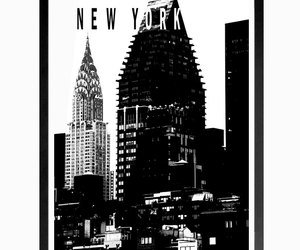 chrysler building, digital print, and typography art image