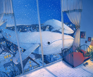 whale, art, and Dream image