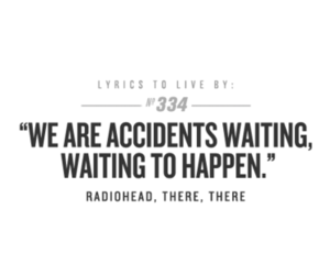 radiohead, accident, and Lyrics image