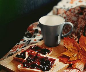 autumn, tea, and leaves image