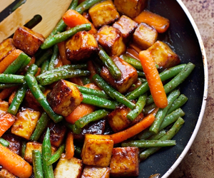 tofu, vegan, and stir fry image