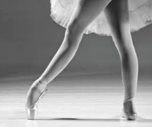 pointe, ballerina, and ballet image