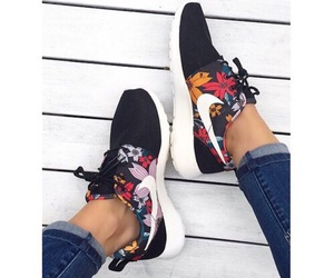 check, roshe, and floral image