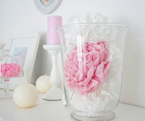 pink, flowers, and candle image