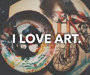 art, colors, and love image