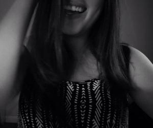 black and white, fake, and girl image