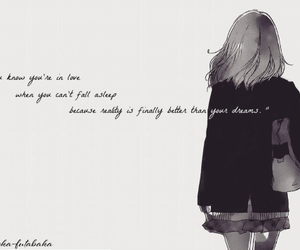 anime, girl, and quote image