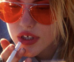cigarette, cute, and girl image