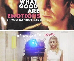 billie piper, ninth doctor, and rose tyler image