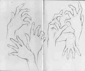 aesthetic, drawing, and hands image