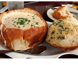 food, soup, and bread image
