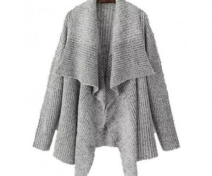 cardigan, gray, and knit image