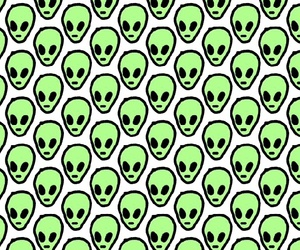 aliens, green, and hipster image