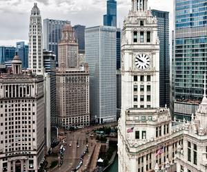 city, chicago, and travel image