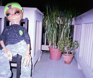 alien, grunge, and aesthetic image