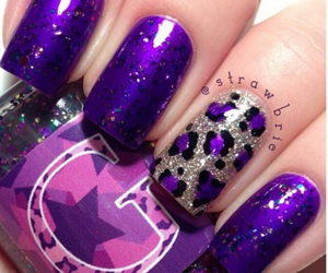 nails, purple, and nail polish image
