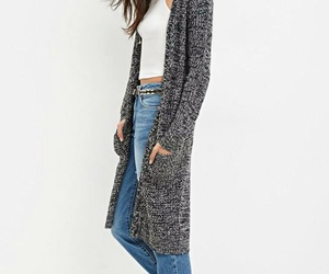 black, cardigan, and clothes image