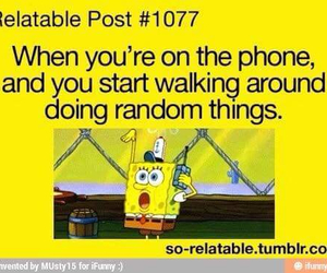 phone, spongebob, and random image