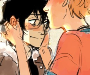percy jackson, nico di angelo, and will solace image