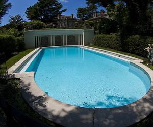 blue, house, and piscina image