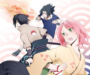 sasuke uchiha, sakura haruno, and sakura image
