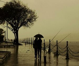 rain and couple image