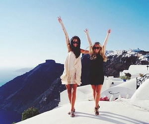 travel, friendship, and girls image
