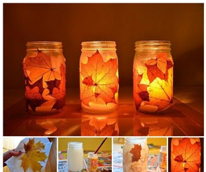 candle, diy, and light image