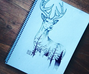 art, deer, and dots image