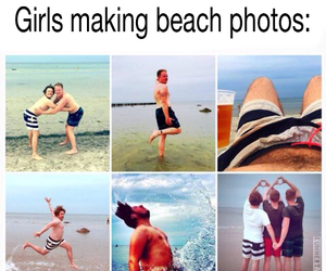 beach, funny, and best friends image