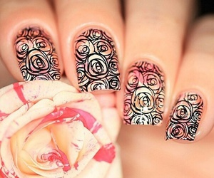 fashion, nail art, and flower image
