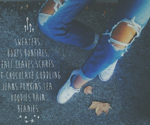 autumn, fall, and jeans image