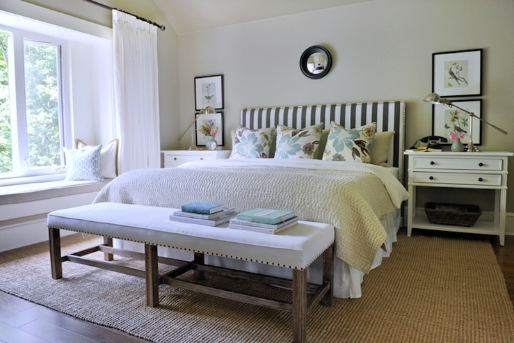 Bedrooms   Ralph Lauren   Barn Owl White   Pottery Barn Pick Stitch Quilt  Pottery Barn Wood Gallery Frame Dwell Studio Oversize Stripe   Charcoal  Robert ...