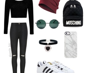 clothes, iphone, and Moschino image