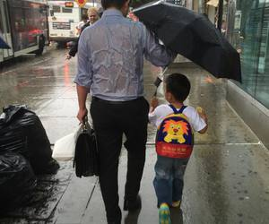 father, rain, and dad image
