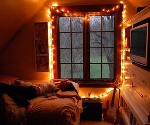 light, girl, and room image