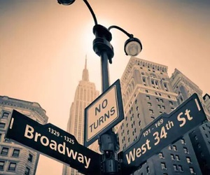 broadway, city, and new york image