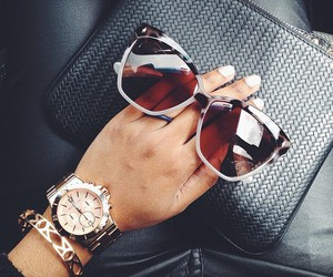 sunglasses, watch, and glasses image