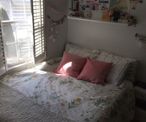 room, pink, and art image