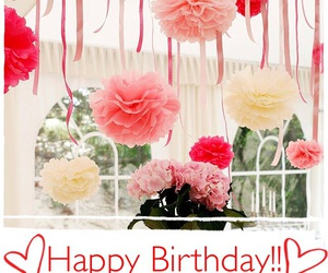 flowers, happy, and happy birthday image