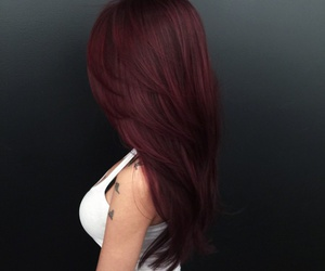 girl, hairstyle, and red hair image