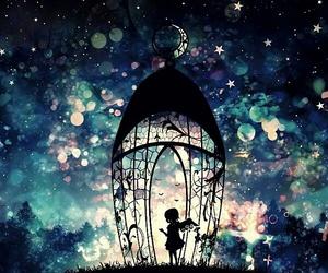 angel, night, and art image