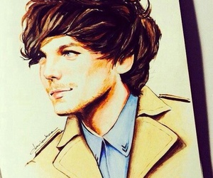 drawing, louis tomlinson, and one direction image
