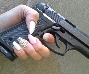 beautiful, gun, and nail image