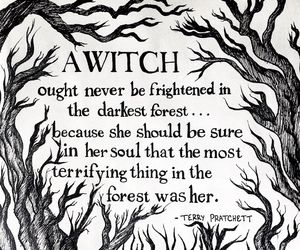 witch, quotes, and forest image