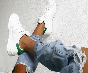 adidas, jeans, and stansmith image