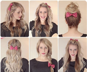 hairstyle, school, and bow image