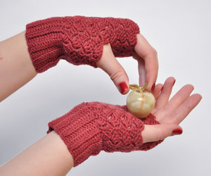 crochet, gloves, and fingerless image