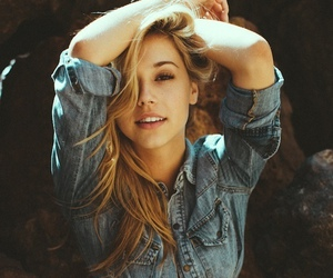 girl, blonde, and jeans image