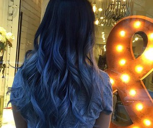 blue, blue hair, and pretty image